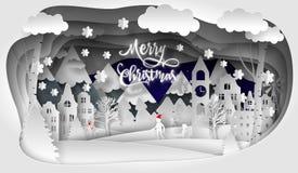 Vrolijk Kerstmis vectorontwerp Gelukkig nieuw jaar 2019 en Vrolijke Kerstmis vector illustratie
