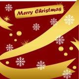 Vrolijk Kerstmisachtergrond of behang of kaart royalty-vrije illustratie