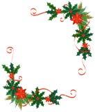 Vrolijk Kerstmisgrens en decoratiekader stock illustratie