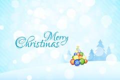 Vrolijk Kerstmislandschap stock illustratie