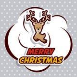 Vrolijk Kerstmisontwerp royalty-vrije illustratie