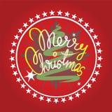 Vrolijk Kerstmisontwerp Royalty-vrije Stock Afbeelding