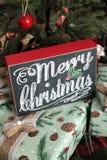 Vrolijk Kerstmisteken op Giften stock afbeelding