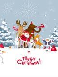Vrolijk Kerstmisvuurwerk Royalty-vrije Stock Foto