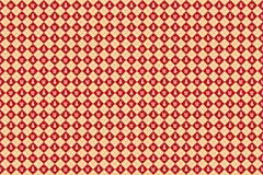 Vrolijk naadloos Kerstmispatroon Rode en gouden achtergrond vector illustratie
