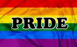 Vrolijk Pride Flag Royalty-vrije Stock Foto's