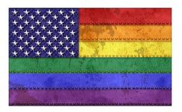Vrolijk Pride Flag America Grunge Stock Afbeelding