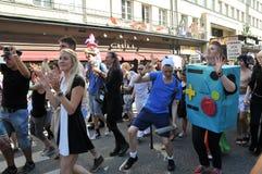 Vrolijk Pride Parade 2013 in Stockholm stock fotografie