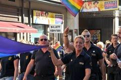 Vrolijk Pride Parade 2013 in Stockholm stock foto's