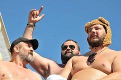 Vrolijk Pride Parade 2013 in Stockholm stock afbeelding