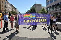 Vrolijk Pride Parade 2013 in Stockholm Royalty-vrije Stock Foto's
