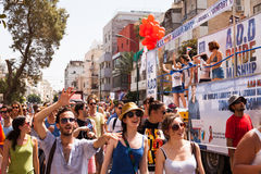 Vrolijk Pride Parade Tel-Aviv 2013 Royalty-vrije Stock Afbeeldingen