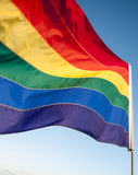 Vrolijk Pride Rainbow Flag Background Royalty-vrije Stock Afbeeldingen