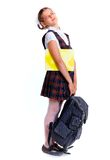 Vrolijk schoolmeisje Stock Fotografie