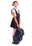 Vrolijk schoolmeisje Stock Afbeeldingen