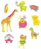 Vrolijk speelgoed Royalty-vrije Stock Foto's
