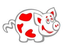 Vrolijk varken stock illustratie