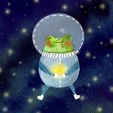 Vrolijke astronaut stock illustratie