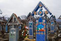 Vrolijke begraafplaats Stock Foto's