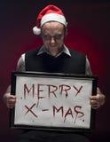 Vrolijke Bloedige Kerstmis. Stock Fotografie