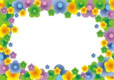 Vrolijke bloemenachtergrond (vector) stock illustratie