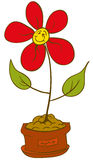 Vrolijke bloempot stock illustratie