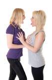 Vrolijke blonden Stock Fotografie