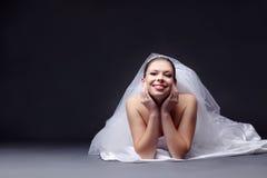 Vrolijke bruid Royalty-vrije Stock Afbeelding