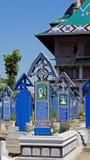 Vrolijke cemetry in Sapanta, Roemenië royalty-vrije stock fotografie