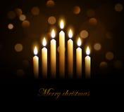 Vrolijke christmasskaarsen eps 10 vector illustratie