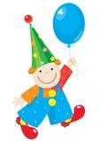 Vrolijke clown met ballon Stock Afbeelding