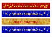 Vrolijke de bannerreeks van het Kerstmisweb Stock Afbeeldingen