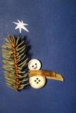 Vrolijke de Groetkaart van het Kerstmislapwerk Royalty-vrije Stock Afbeeldingen