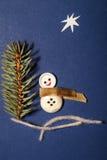 Vrolijke de Groetkaart van het Kerstmislapwerk Royalty-vrije Stock Fotografie