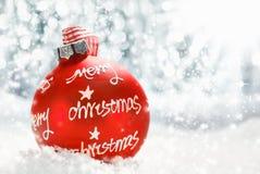 Vrolijke de groetkaart van Kerstmis Stock Afbeelding