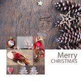 Vrolijke de Kaartkerstman van de Kerstmisgroet Stock Afbeeldingen