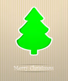 Vrolijke de prentbriefkaarillustratie van Kerstmis Stock Afbeeldingen