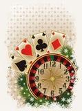 Vrolijke de uitnodigingskaart van het Kerstmiscasino Royalty-vrije Stock Fotografie