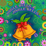 Vrolijke de vieringsachtergrond van de Kerstmisvakantie Stock Afbeeldingen