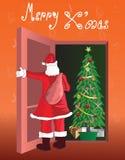 Vrolijke decoratieve Kerstmis Stock Afbeeldingen
