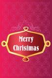 Vrolijke decoratieve Kerstmis Royalty-vrije Stock Foto