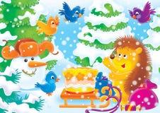 Vrolijke dieren 19 stock illustratie