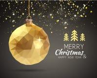 Vrolijke in driehoekig van het Kerstmis Gelukkige Nieuwjaar Royalty-vrije Stock Foto's