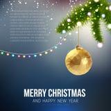 Vrolijke in driehoekig van het Kerstmis Gelukkige Nieuwjaar Royalty-vrije Stock Afbeelding