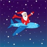 Vrolijke en gelukkige Kerstman Stock Foto's