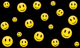 Vrolijke glimlach, vector Stock Afbeeldingen