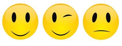 Vrolijke glimlach, vector Royalty-vrije Stock Afbeelding