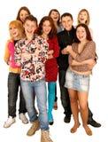 Vrolijke groep jonge mensen. Royalty-vrije Stock Afbeeldingen