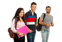 Vrolijke groep studenten Stock Afbeeldingen
