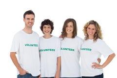 Vrolijke groep vrijwilligers Stock Afbeelding